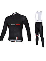 Sports Cycling Jersey with Bib Tights Men's Long Sleeve Bike Breathable / Quick Dry / Anatomic Design / 3D PadClothing