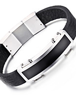 Kalen® New Leather Bracelet Fashion 316L Stainless Steel Shiny Charm Leather Bracelet For Men Cool Accessories Gifts