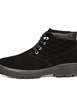 Men's Boots Fall Comfort PU Athletic Flat Heel Others / Lace-up Black / Brown Others