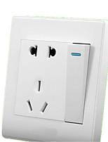 morano 86 Tipo de uma porta do tipo aberto com interruptor de parede cinco buracos com painel tomada em duas vertentes 1 switch 1 aberta