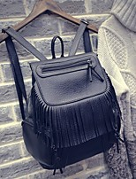 Women PU Casual Backpack Black