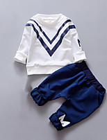 Boy's Casual/Daily Print Clothing SetCotton Fall White