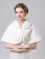 Women's Wrap Capelets Faux Fur / Imitation Cashmere Wedding / Party/Evening Pattern
