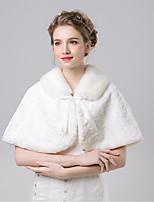 Estolas Femininas Mini Capa Pelo Artificial / Cashmere imitação Casamento / Festa Padrão