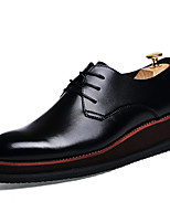 Men's Oxfords Spring / Summer / Fall / Winter Novelty Leather Office & Career / Party & Evening / Casual Platform Black
