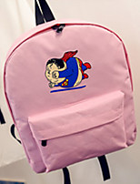 Casual Backpack Unisex Canvas Pink Purple Blue Red Gray Black