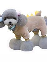 Cani Costumi / Cappottini / Felpe con cappuccio Rosso / Verde / Marrone Abbigliamento per cani Inverno / Primavera/Autunno Cartoni animati