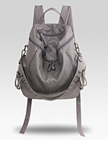 Casual Backpack Women PU Gray Black