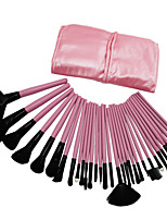 32pcs Makeup Brushes Set Goat Hair Professional / Portable Wood Face / Eye / Lip