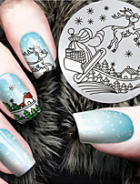 2016 Latest Version Fashion Christmas Pattern Nail Art Stamping Image Template Plates