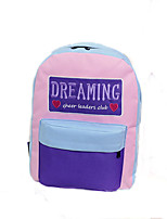 Casual Outdoor Backpack Women Polyester Nylon Pink Purple Blue Green Red Black