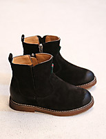 Boy's Boots Comfort Suede Casual Black / Gray / Khaki