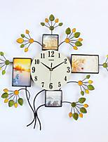 Модерн Домики Настенные часы,Новинки Стекло / Металл / Полирезина 71*63CM В помещении Часы