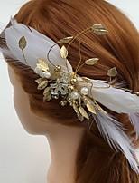 Vrouwen Veren / Bergkristal / Licht Metaal / Acryl Helm-Bruiloft / Speciale gelegenheden / Informeel Bloemen / Haarclip 1 Stuk