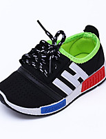 Boy's Sneakers Spring / Fall Comfort Tulle Casual Flat Heel Lace-up Black / Blue / Red / Gray Sneaker