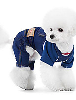 Dog Clothes/Jumpsuit Red / Blue / Black / Coffee Dog Clothes Winter / Spring/Fall Solid Casual/Daily / Cosplay