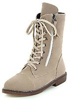 Boty-Koženka-Kombat boty / Módní boty-Dámské-Černá / Hnědá / Béžová-Outdoor / Kancelář / Běžné-Nízký podpatek