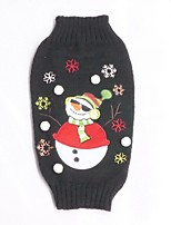 Christmas Snowman Dog Clothes Snowflake Festival Dog Sweaters for Pets