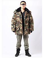 Hiking Softshell Jacket Men's Waterproof / Breathable / Thermal / Warm / Windproof / Wearable Winter Cotton Camouflage