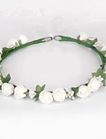 Women's Foam / Fabric Headpiece-Wedding / Special Occasion Flowers 1 Piece