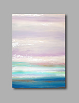 Stretched (Ready to hang) Hand-Painted Oil Painting 90cmx60cm Canvas Wall Art Modern Abstract Lght Purple