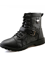 Men's Boots Fall / Winter Others PU Outdoor / Casual Flat Heel Buckle / Studded Black / Blue / Yellow Walking / Others