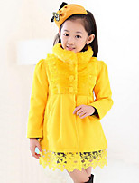 Girl's Casual/Daily Solid Suit & Blazer,Polyester Winter Red / Yellow