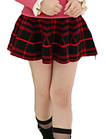 Girl's Casual/Daily Plaid Skirt,Cotton / Spandex Winter Black / Red / White
