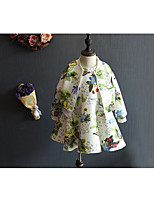Girl's Casual/Daily Floral Dress / Clothing SetCotton Spring / Fall White
