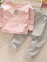 Boy's Casual/Daily Solid Clothing SetCotton Spring / Fall Blue / Pink