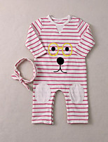 Baby Casual/Daily Striped Animal Print One-Pieces,Cotton Fall Long Sleeve