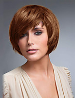 Short Sweet Bob Hairstyle Straight with Side Bang Capless Wigs High Quality Human Hair