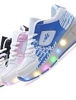 Черный Синий Розовый-Унисекс-Для прогулок Повседневный Для занятий спортом-Тюль-На низком каблуке-Удобная обувь-Кеды