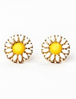 European Style Luxury Gem Geometric Earrrings Sun Flower Stud Earrings for Women Fashion Jewelry Best Gift