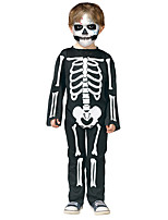Cosplay Costumes Skeleton/Skull Halloween White / Black Print Cotton Leotard/Onesie Kid