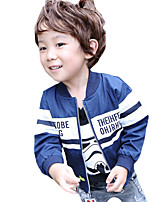 Boy's Casual/Daily Striped Trench CoatCotton Spring / Fall Blue / White