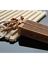 Zaomu Lightning Wood Keychain Car Pendant Square Mantra Keychain