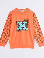 Unisex Casual/Daily Geometric Blouse,Cotton Fall Long Sleeve Regular