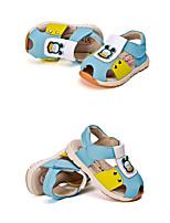 Boy's Sandals Summer Comfort Cowhide Outdoor Casual Flat Heel Hook & Loop Blue Brown Walking Others