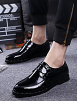 Men's Oxfords Comfort Patent Leather Wedding Party & Evening Black