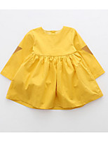 Girl's Casual/Daily Solid Dress / Overall & JumpsuitCotton Spring / Fall Yellow