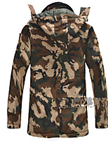Hiking Softshell Jacket Men's Breathable / Thermal / Warm / Windproof / Wearable Winter Terylene Camouflage