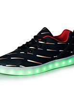 Unisex Sneakers Spring Summer Fall Winter Comfort Synthetic Outdoor Casual Athletic Flat Heel Lace-up LED Black Other