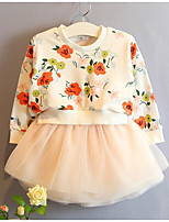 Girl's Casual/Daily Floral Dress,Cotton Spring