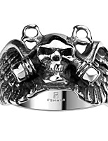 Ring Non Stone Halloween / Daily / Casual Jewelry Steel Men Ring 1pc,8 / 9 / 10 / 11 Silver