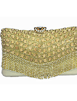 Women Diamonds Tassel Clutch/Formal / Event/Party / Wedding Evening Bag/ Metallic Rose/Purse/Handbags/Eveningbags