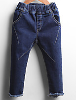 Girl Casual/Daily Solid Jeans-Polyester Fall