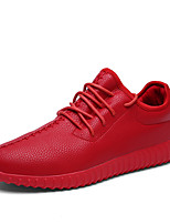 Women's Athletic Shoes Spring / Summer / Fall / Winter Others PU Athletic / Casual Flat Heel Lace-up Black / Red / White Walking / Running
