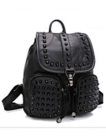 Casual Event/Party Office & Career Backpack Women Other Leather Type Black