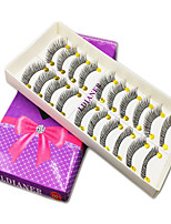 Eyelashes lash Full Strip Lashes Eyes The End Is Longer Handmade Fiber Black Band 0.10mm 12mm